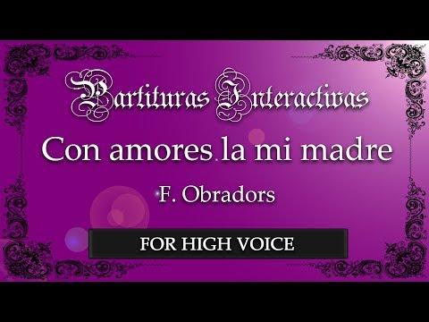 Con amores la mi madre - F. Obradors (Karaoke - Original Key: F minor)