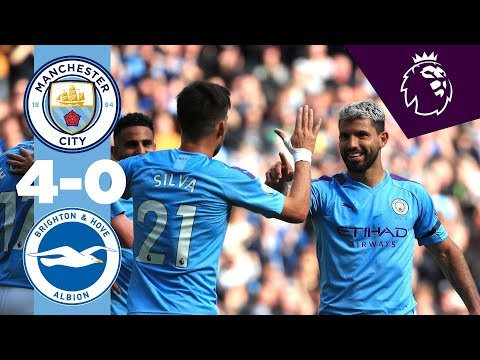HIGHLIGHTS | Man City 4-0 Brighton | De Bruyne, Aguero (2),