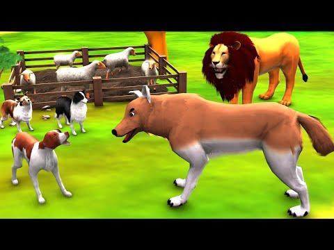 भेड़िया और सिंह का शिकार Hindi Kahaniya - Panchatantra Ki Kahaniya - 3D Animated Stories