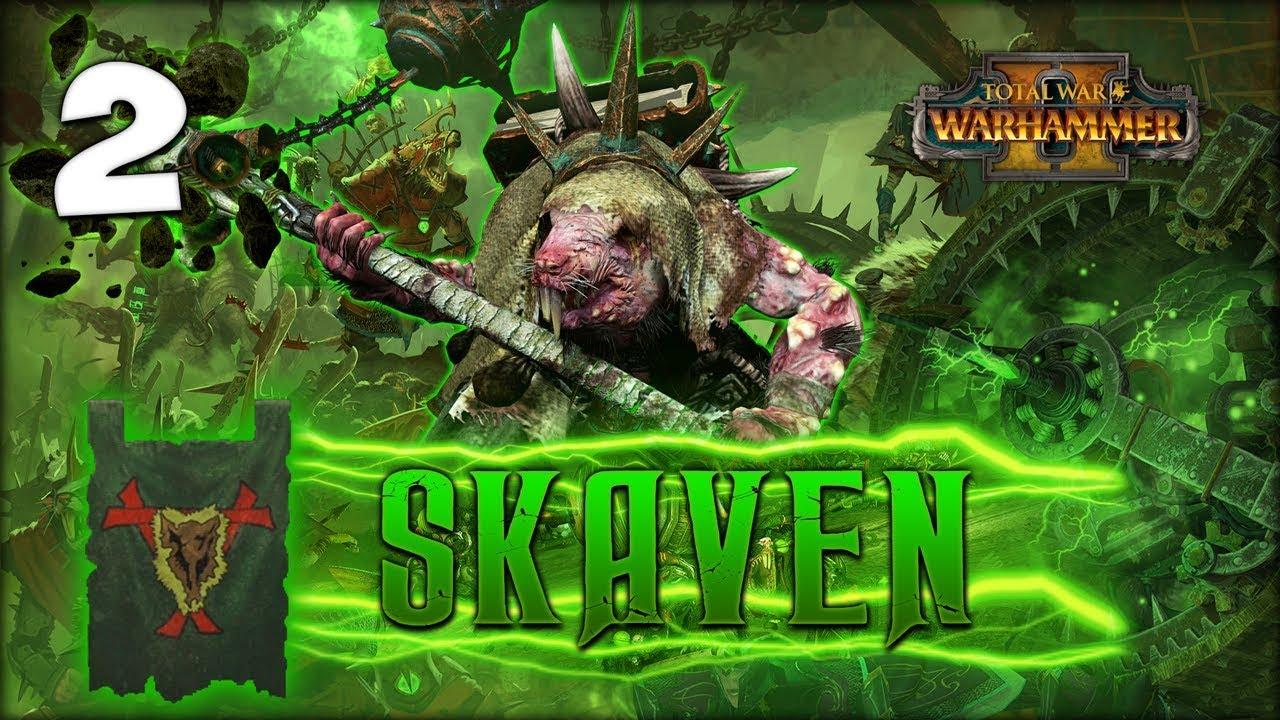 POWER OF THE WARP! Total War: Warhammer 2 - Skaven Campaign - Lord Skrolk  #2 - YouTube