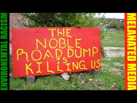 EPA approved Lung Cancer causing  Noble Road Toxic Waste Dump protest.