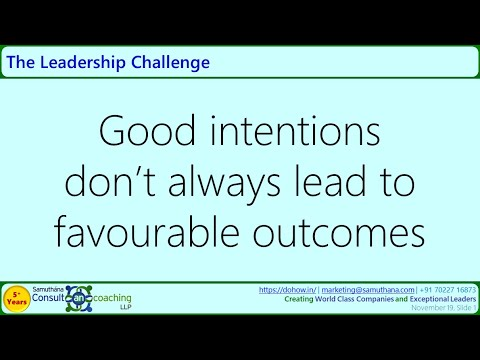 Good Intentions - Mediocre Outcomes