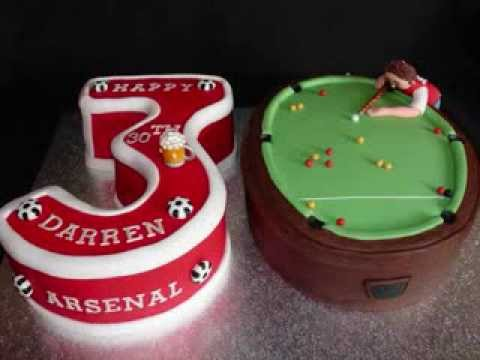 30th Birthday Pool Arsenal Theme Fondant Cake YouTube