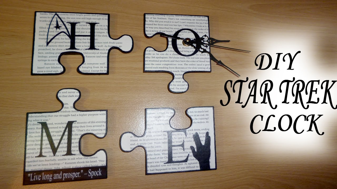 "DIY ""GEEK CHIC"" Star Trek Puzzle Pieces Home Decor / Wall ..."