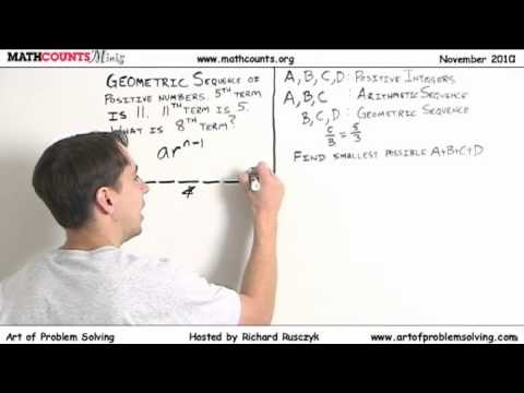 MATHCOUNTS Mini #12 - Arithmetic and Geometric Sequences