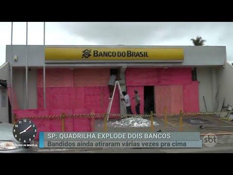Quadrilha explode dois bancos e leva pânico a cidade do interior de SP   Primeiro Impacto (04/06/18)