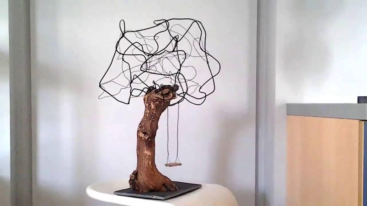 l 39 art bre cr ation en cep de vigne et fil de fer 2015 youtube. Black Bedroom Furniture Sets. Home Design Ideas