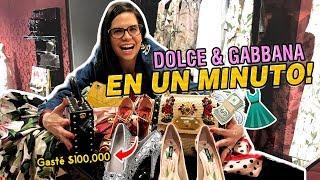 ME COMPRO TODO LO QUE PUDE AGARRAR EN 1 MINUTO ⏰ DOLCE & GABANNA 💸 👠 | Camila Guiribitey
