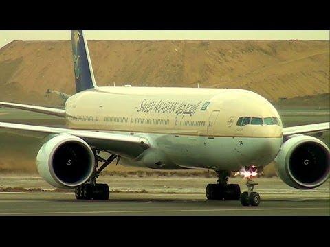 Air Traffic at Jeddah Airport (JED) الحركة الجوية في مطار جدة