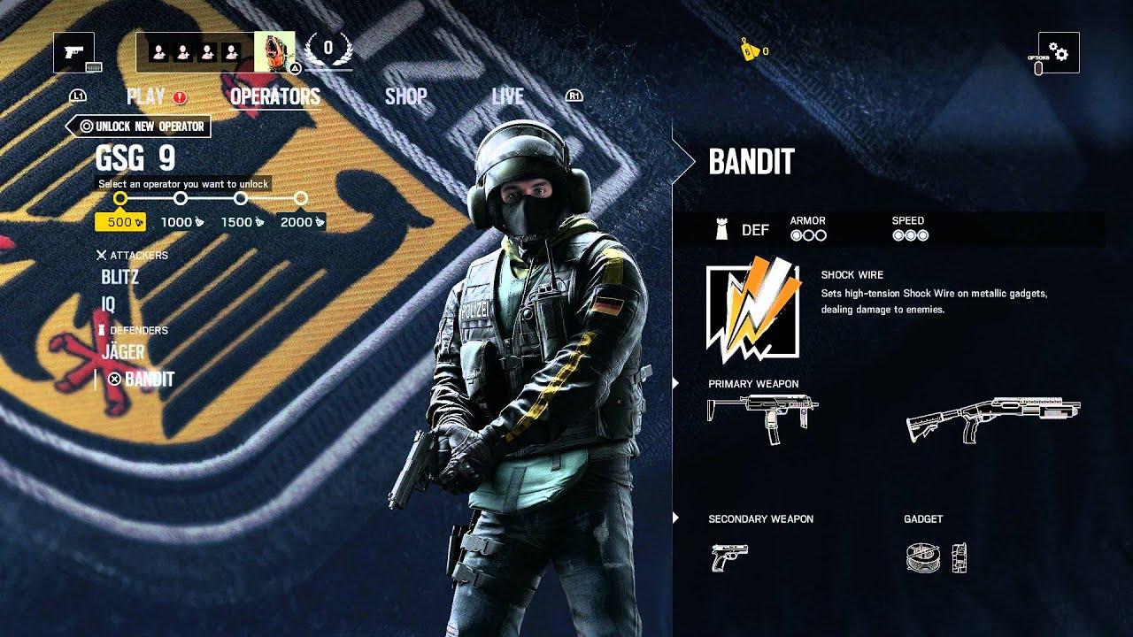 Rainbow Six Siege Gign Operators: Operators: SAS, FBI SWAT, GIGN