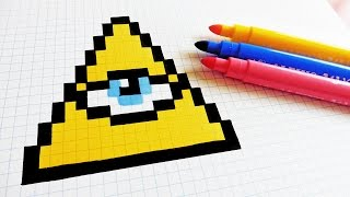 Handmade Pixel Art - How To Draw Illuminati confirmed #pixelart