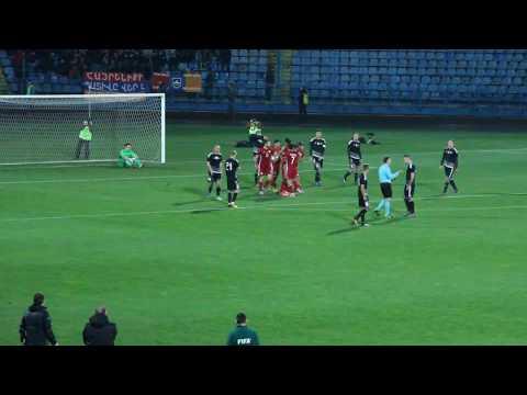 Belarus GK Gutor's double save after Henrikh Mkhitaryan penalty