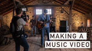 Making a Country Music Video Behind the Scenes Day 1 | Adam Cousins' Dirt Road