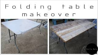 pallet table diy Foldable pallet table