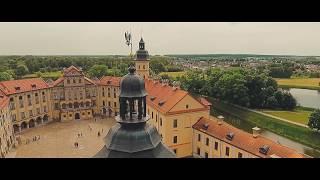 Свадьба в Несвижском замке с высоты птичьего полёта. Андрей и Наталия
