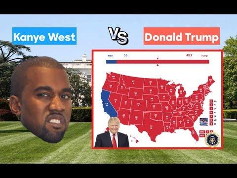 Kanye West Tour 2020 Kanye West vs Donald Trump | 2020 Election Prediction | Realistic