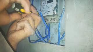 تركيب عداد كهرباء احادي 220فلت بطريقة احترافية