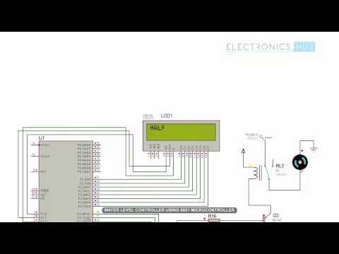 Water Level Indicator and Controller using 8051 Microcontroller