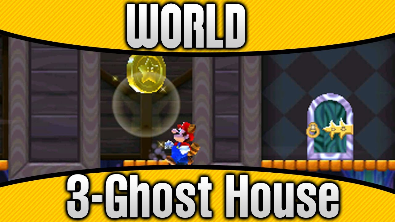 New Super Mario Bros  2 - World 3-Ghost House 100% All Star Coins & Secret  Exit