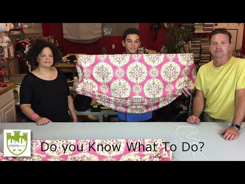 DIY Window Treatments - How To Make a Relaxed Roman Shade Pa