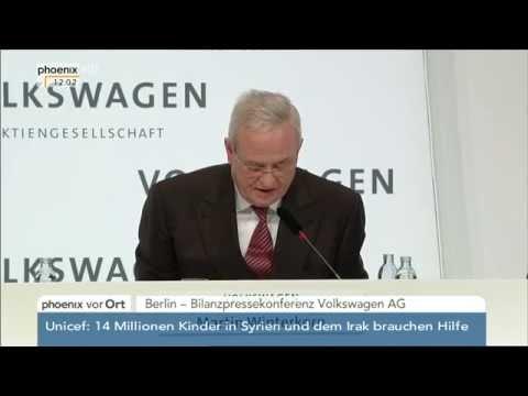 Bilanz-PK der Volkswagen AG mit Martin Winterkorn am 12.03.2015