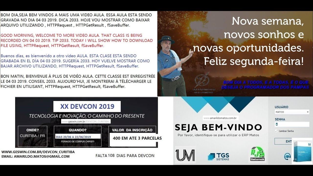 DICAS 2033 WINDEV WEBSERVICE 23 HTTPRequest HTTPGetResult fSaveBuffer  BAIXAR ARQUIVO