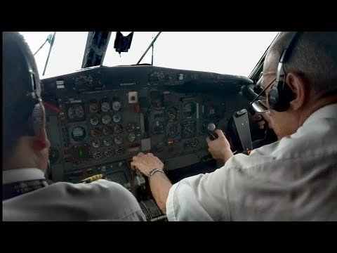 BOEING 727 HK4544 COCKPIT VIEW - TAKE-OFF FROM INIRIDA (PDA)