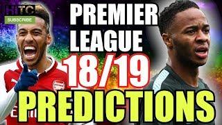 Premier League 18/19 PREDICTIONS