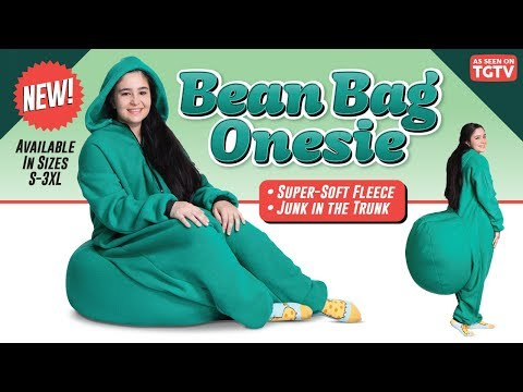 Kat Jackson - Bean Bag Onesie. Be lazy anywhere.