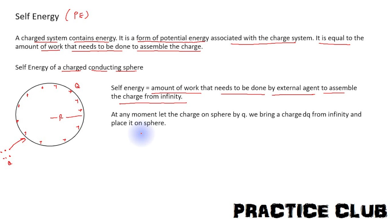 Lecture 18 Self Energy Of A Conducting Sphere Having Total Charge Q Uniformly Distributed