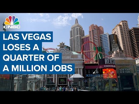 Las Vegas crushed, city loses a quarter of a million jobs due to Covid-19