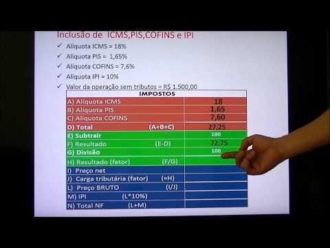 Formação do preço de venda - Inclusão dos Tributos