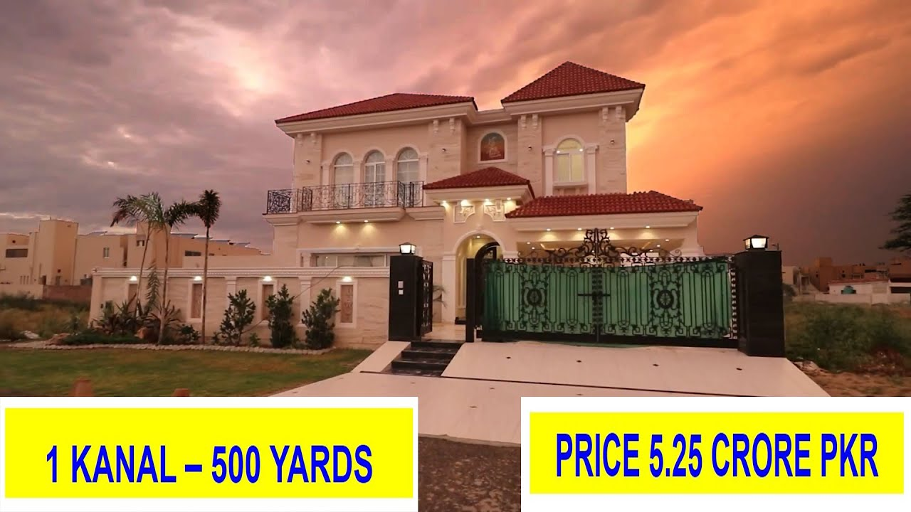 1 Kanal House Luxurious Spanish Design Ultimate Living Concept Phase 6 DHA Lahore VLOG# 57 - 5.25 Cr