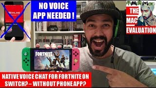NATIVE VOICE CHAT FOR FORTNITE ON SWITCH? – WITHOUT PHONE APP?!