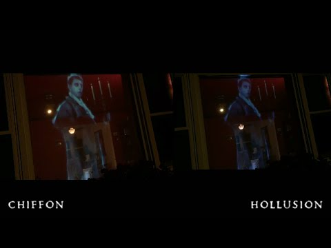Halloween hologram projection - comparing scrims and fabrics