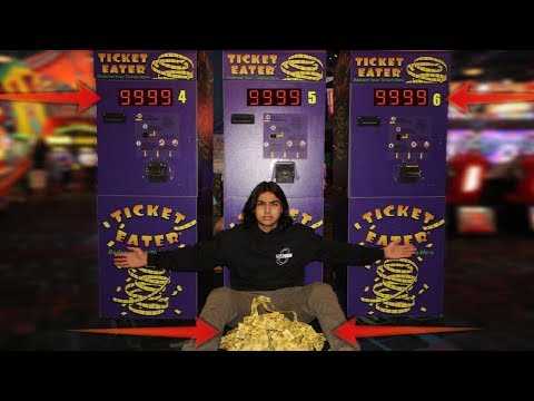 I WON THE BIGGEST ARCADE LOTTERY JACKPOT! (ARCADE HACK 100% WIN RATE)