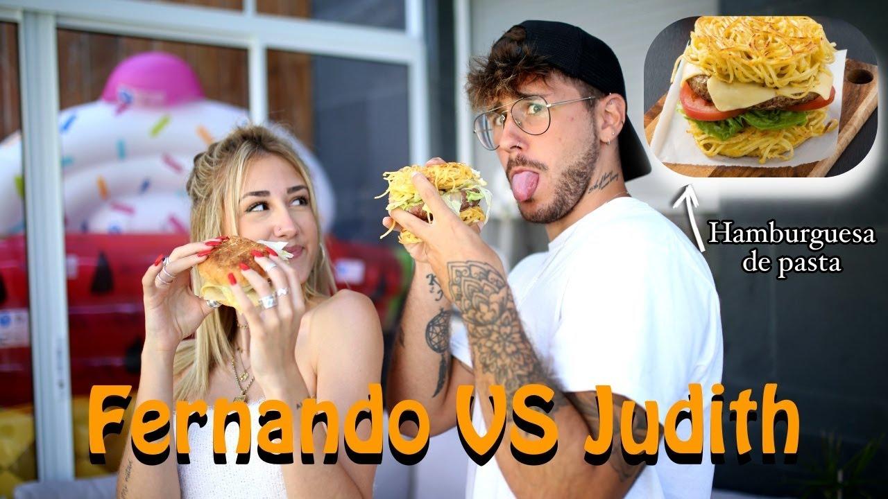 FERNANDO VS JUDITH: ¡CREAMOS NUESTRA PROPIA HAMBURGUESA! | Hermanos Jaso