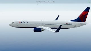[HD] Infinite Flight Boeing 737 - 900. Multiplayer. ATC. Delta Airline takeoff from KLAX to KSAN