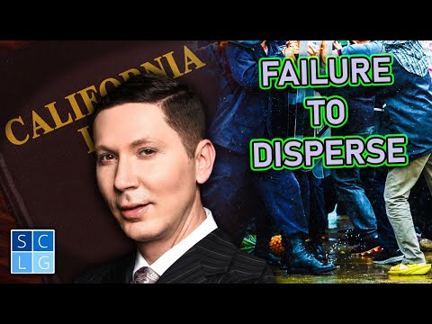 """When is """"failure to disperse"""" a crime? (Penal Code 409 & 416)"""