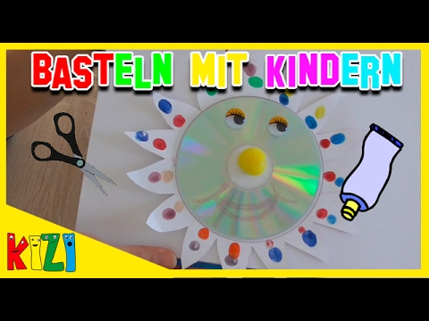fr hlingsbasteln mit kindern diy bastelideen i cd sonne selber basteln youtube. Black Bedroom Furniture Sets. Home Design Ideas