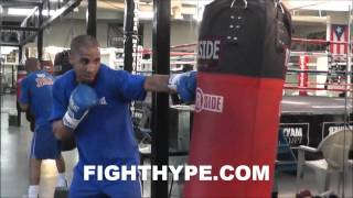 ANDRE WARD TRAINING  AT MAYWEATHER BOXING CLUB