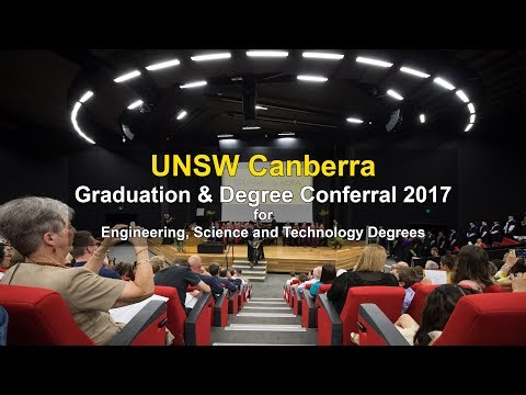 UNSW Canberra 2017 Graduation for Engineering, Science and Technology