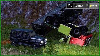 СЛЕТЕЛ КАМАЗ С ОБРЫВА! ФЕРМЕР ПОПАЛ В ДТП - Farming Simulator 2017