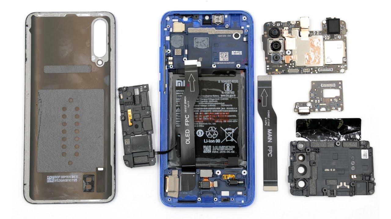 Разбираем смартфон Xiaomi Mi CC9 teardown smartphone - YouTube
