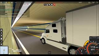 ROBLOX Ultimate Driving Semi Truck Convoy Across HBBT! 'Gone Wrong'