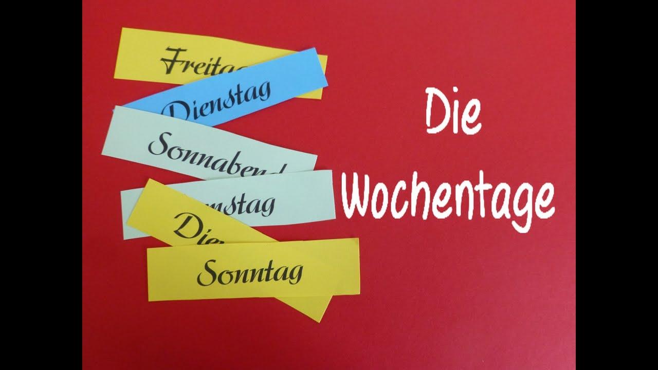 Видео-словарь! Дни недели! Viedeowörterbuch! Die Wochentage.