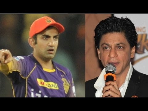 'सीक्रेट मैसेज' Of Shah Rukh Khan to Gautam Gambhir IPL 10 - HUNGAMA