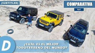Comparativa 4x4: Toyota Land Cruiser (PRADO), Jeep Wrangler Rubicon, Mercedes Clase G - Diariomotor