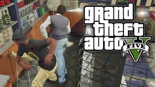GTA 5 CHALLENGE - ROBBING STORES WITH NOTHING! (GTA V Online)