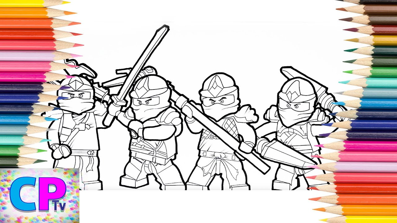 Lego Ninjago Coloring Pages, Coloring Pages Tv, Ninjago Ready for Action